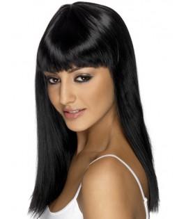 Perruque longue Glamour noire