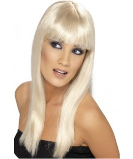 Perruque longue Glamour blonde