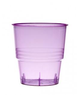 verres plastique transparent rose