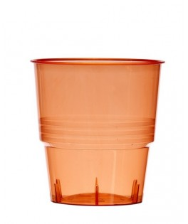 verres plastique cristal injecte transparent rouge
