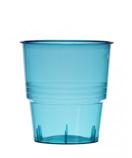 Verres  plastique cristal injecté  turquoise  x10