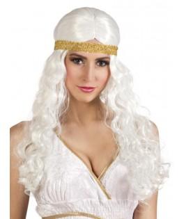 Perruque blanche Déesse Grecque