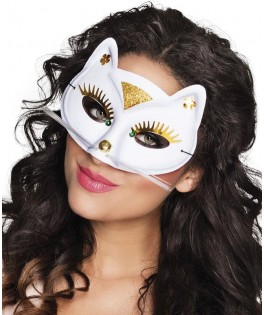 Masque Loup Chat blanc