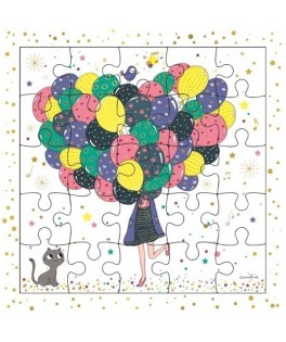 Puzzle Joyeux Anniversaire Ballons