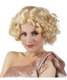 Perruque bouclée Eva blonde