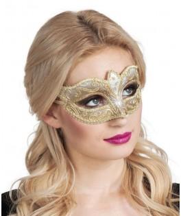 Masque Loup paillettes dorées
