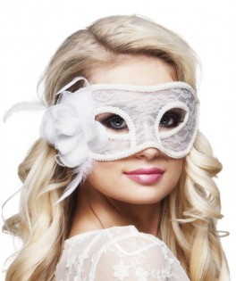 Masque dentelle Mystique blanc