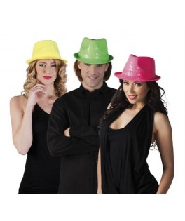 Chapeau Popstar Sequins Fluo (assortiment)