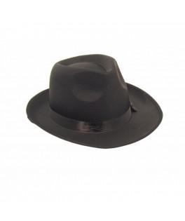 Chapeau Borsalino tissu noir luxe