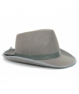 Chapeau Borsalino tissu gris