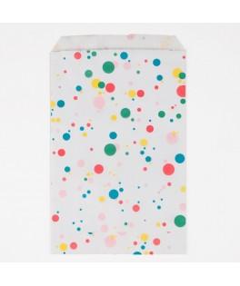 10 Sachets à bonbons pois multicolores