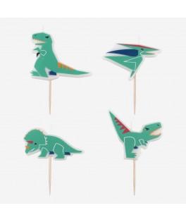4 Bougies Dinosaure