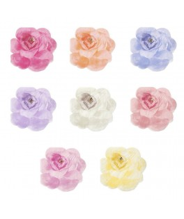16 Serviettes Jardin de roses assorties