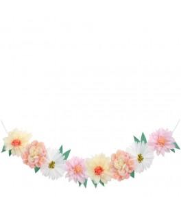 Guirlande de roses en papier 3,80 m
