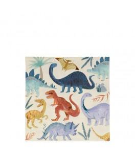 16 Grandes serviettes Royaume des Dinosaures