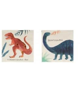 16 Petites serviettes Royaume des Dinosaures