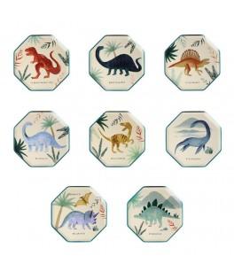 8 Petites Assiettes Royaume des Dinosaures