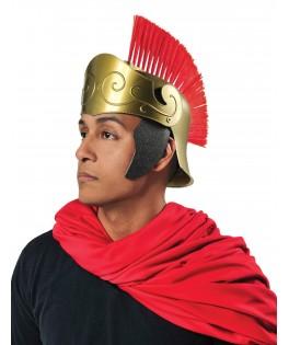 Casque Romain avec crête rouge Adulte