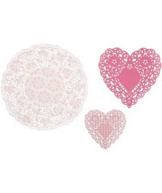 napperons papier rose