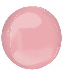 Ballon Orbz rose pastel 40 cm