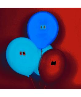 Trio de 10 ballons tons bleus