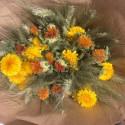 Bouquet de fleurs séchées L Jaune/Orange