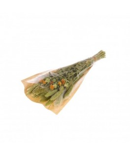 Bouquet de fleurs séchées S Orange/Vert
