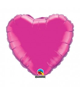 Ballon Coeur Chrome Magenta