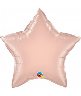 Ballon Etoile métallisé rose gold - Vrac