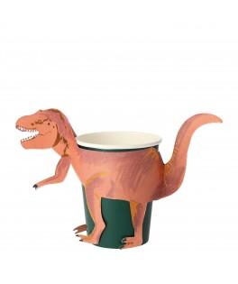 8 Gobelets T Rex Royaume des Dinosaures