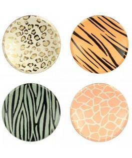 8 Grandes assiettes motifs Safari