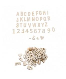 120 Chiffres et lettres en bois