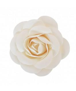 Rose à piquer satin blanc