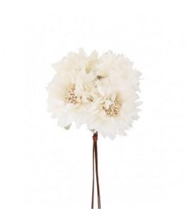 Petit bouquet de roses ivoire à piquer