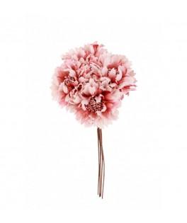 Petit bouquet de roses vieux rose à piquer