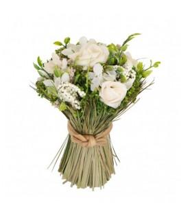 Petit bouquet de roses blanches
