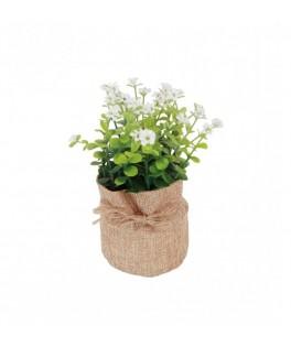 Plante artificielle dans pot jute