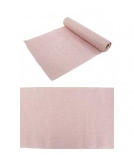 Chemin de table burlap rose pastel