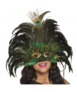 Masque Loup Peacock Queen