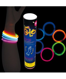100 bracelets fluo lumineux