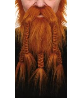 Barbe & Moustache Viking rousse