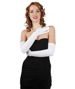 Longs gants blancs