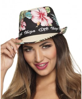 Chapeau à fleurs Ibiza