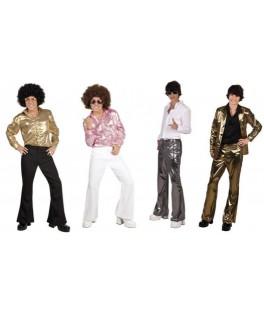 Déguisement Pantalon Disco argent M/L