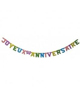 Guirlande Joyeux Anniversaire 1,60 m