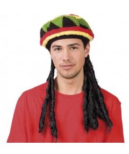 Bonnet Jamaicain avec dreadlocks