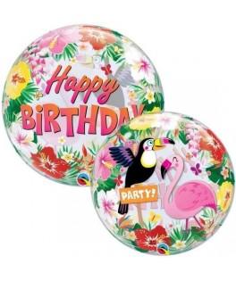 Ballon Bubble Happy Birthday Tropical Party