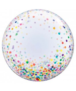Ballon Bubble Confettis multicolores