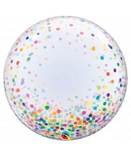 Ballon Bubble Confettis multicolores