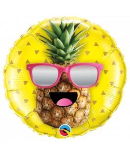 Ballon Ananas avec lunettes - 46 cm